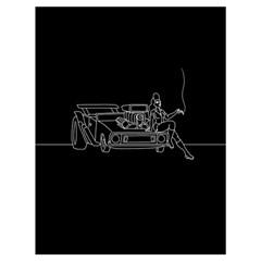 Arctic Monkeys Drawstring Bag (large) by Valentinaart