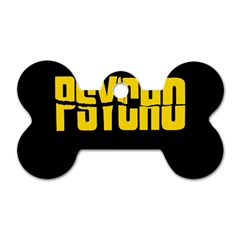 Psycho  Dog Tag Bone (two Sides) by Valentinaart