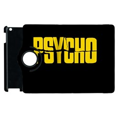 Psycho  Apple Ipad 2 Flip 360 Case by Valentinaart
