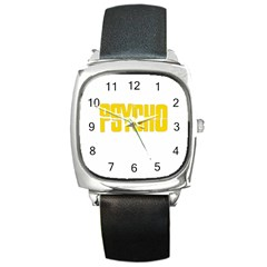 Psycho  Square Metal Watch by Valentinaart