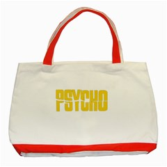 Psycho  Classic Tote Bag (red) by Valentinaart