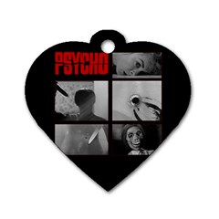 Psycho  Dog Tag Heart (two Sides) by Valentinaart