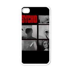 Psycho  Apple Iphone 4 Case (white) by Valentinaart