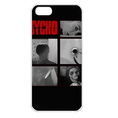 Psycho  Apple Iphone 5 Seamless Case (white) by Valentinaart
