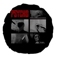 Psycho  Large 18  Premium Round Cushions by Valentinaart