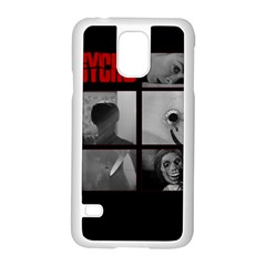 Psycho  Samsung Galaxy S5 Case (white) by Valentinaart