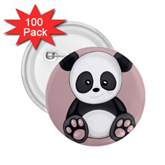 Cute Panda 2 25  Buttons (100 Pack)  by Valentinaart