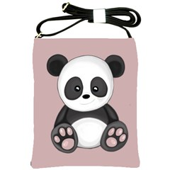 Cute Panda Shoulder Sling Bags by Valentinaart