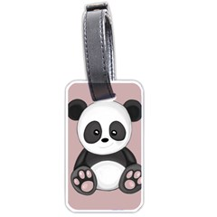 Cute Panda Luggage Tags (two Sides) by Valentinaart