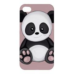 Cute Panda Apple Iphone 4/4s Premium Hardshell Case by Valentinaart