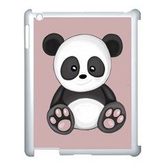 Cute Panda Apple Ipad 3/4 Case (white)