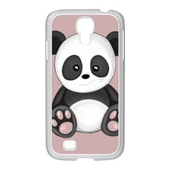 Cute Panda Samsung Galaxy S4 I9500/ I9505 Case (white) by Valentinaart