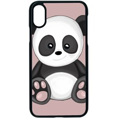 Cute Panda Apple Iphone X Seamless Case (black) by Valentinaart