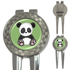 Cute Panda 3 In 1 Golf Divots by Valentinaart