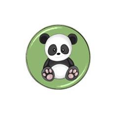 Cute Panda Hat Clip Ball Marker (4 Pack) by Valentinaart