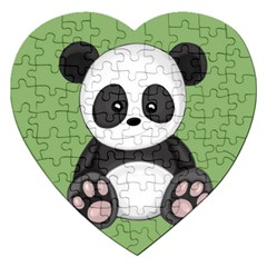 Cute Panda Jigsaw Puzzle (heart) by Valentinaart