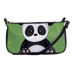 Cute Panda Shoulder Clutch Bags by Valentinaart