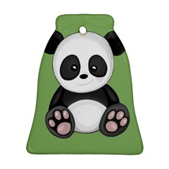 Cute Panda Bell Ornament (two Sides) by Valentinaart