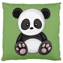 Cute Panda Large Cushion Case (two Sides) by Valentinaart