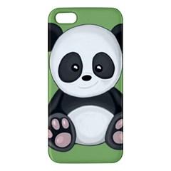 Cute Panda Iphone 5s/ Se Premium Hardshell Case by Valentinaart