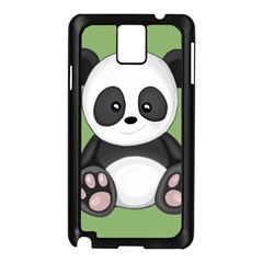 Cute Panda Samsung Galaxy Note 3 N9005 Case (black) by Valentinaart