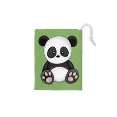 Cute Panda Drawstring Pouches (xs)  by Valentinaart