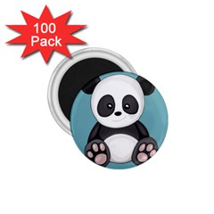 Cute Panda 1 75  Magnets (100 Pack)  by Valentinaart