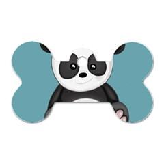 Cute Panda Dog Tag Bone (two Sides) by Valentinaart