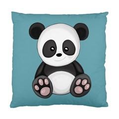 Cute Panda Standard Cushion Case (one Side) by Valentinaart