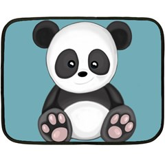 Cute Panda Fleece Blanket (mini) by Valentinaart