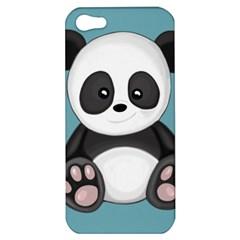 Cute Panda Apple Iphone 5 Hardshell Case by Valentinaart