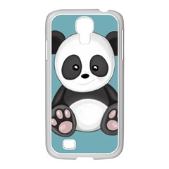 Cute Panda Samsung Galaxy S4 I9500/ I9505 Case (white) by Valentinaart