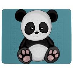 Cute Panda Jigsaw Puzzle Photo Stand (rectangular) by Valentinaart
