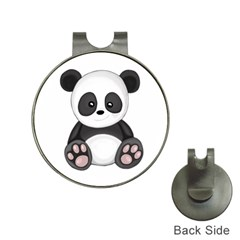 Cute Panda Hat Clips With Golf Markers by Valentinaart