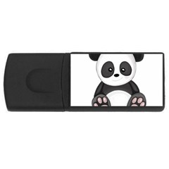 Cute Panda Rectangular Usb Flash Drive by Valentinaart