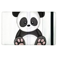 Cute Panda Apple Ipad 2 Flip Case by Valentinaart