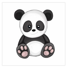 Cute Panda Large Satin Scarf (square) by Valentinaart