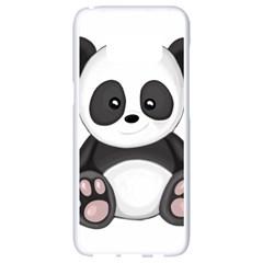 Cute Panda Samsung Galaxy S8 White Seamless Case by Valentinaart