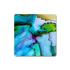 Abstract Painting Art Square Magnet by Celenk