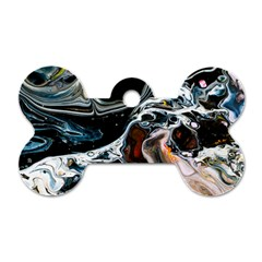 Abstract Flow River Black Dog Tag Bone (one Side) by Celenk