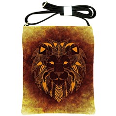 Lion Wild Animal Abstract Shoulder Sling Bags by Celenk