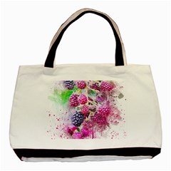 Blackberry Fruit Art Abstract Basic Tote Bag by Celenk