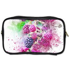 Blackberry Fruit Art Abstract Toiletries Bags by Celenk