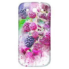 Blackberry Fruit Art Abstract Samsung Galaxy S3 S Iii Classic Hardshell Back Case by Celenk