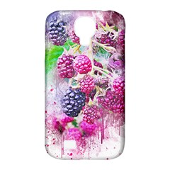 Blackberry Fruit Art Abstract Samsung Galaxy S4 Classic Hardshell Case (pc+silicone) by Celenk