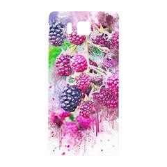 Blackberry Fruit Art Abstract Samsung Galaxy Alpha Hardshell Back Case by Celenk