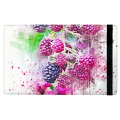 Blackberry Fruit Art Abstract Apple Ipad Pro 12 9   Flip Case by Celenk