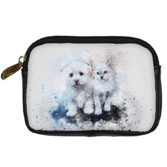 Cat Dog Cute Art Abstract Digital Camera Cases by Celenk