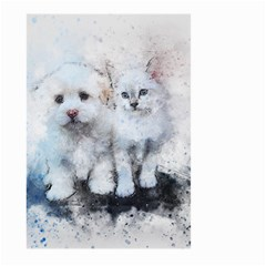 Cat Dog Cute Art Abstract Large Garden Flag (two Sides) by Celenk