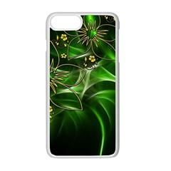 Flora Entwine Fractals Flowers Apple Iphone 8 Plus Seamless Case (white) by Celenk